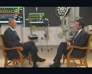 President Barack Obama and Dr. Sanjay Gupta