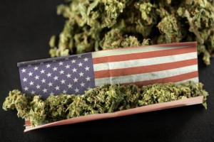 Marijuana Joint American Flag
