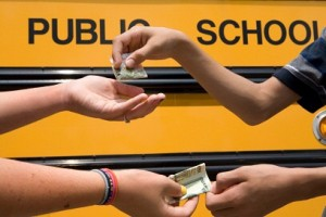 Youth Buying Marijuana School Bus