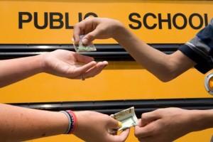 Youth Buying Marijuana School Bus