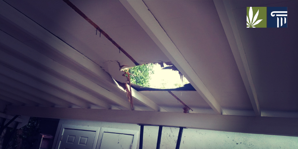 Hole in carport roof