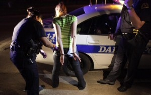 Dallas Police Arresting Woman