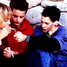 Teenagers Smoking Marijuana