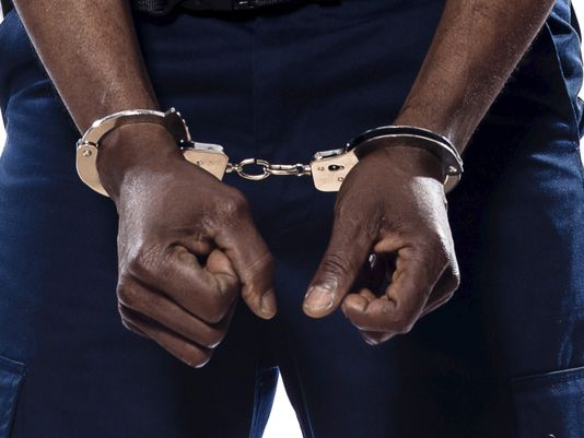 Black Person Arrest Handcuffs
