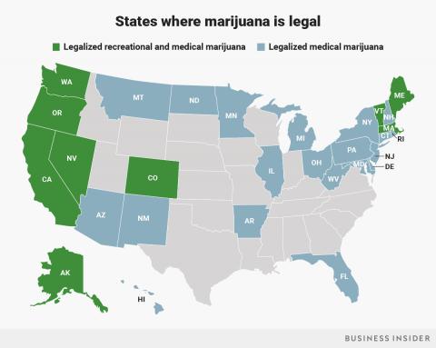 States with legal marijuana