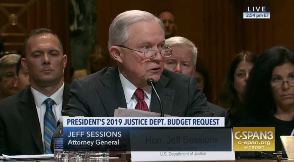 jeff sessions justice department budget hearing